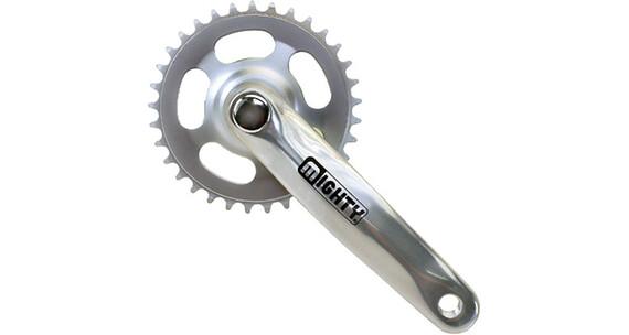 M-ighty Crankstel Zwengel 1-speed 44Z aluminium/staal zilver